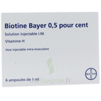 BIOTINE BAYER 0,5 POUR CENT, solution injectable I.M. à DIJON